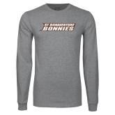 Grey Long Sleeve T Shirt-St. Bonaventure Bonnies