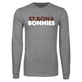 Grey Long Sleeve T Shirt-St. Bona Bonnies
