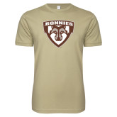 Next Level SoftStyle Khaki T Shirt-Bonnies Shield