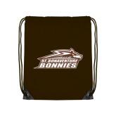 Brown Drawstring Backpack-Official Logo
