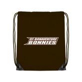 Brown Drawstring Backpack-St. Bonaventure Bonnies