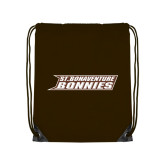 Brown Drawstring Backpack-St. Bonaventure Bonnies