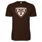 Next Level SoftStyle Brown T Shirt-Bonnies Shield