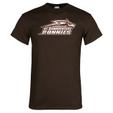 Brown T Shirt-Official Logo Distressed
