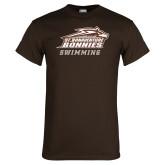 Brown T Shirt-Swimming