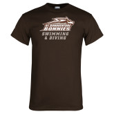 Brown T Shirt-Swimming & Diving