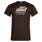 Brown T Shirt-Swimming & Diving