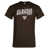 Brown T Shirt-Bonnies Soccer Texture