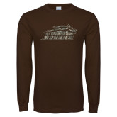 Brown Long Sleeve T Shirt-Official Camo Logo