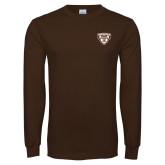 Brown Long Sleeve TShirt-Bonnies Shield