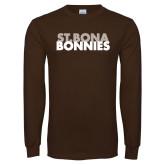 Brown Long Sleeve TShirt-St. Bona Bonnies