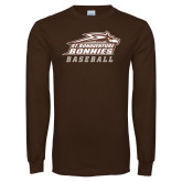Brown Long Sleeve TShirt-Baseball