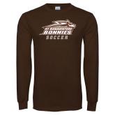 Brown Long Sleeve TShirt-Soccer