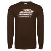 Brown Long Sleeve TShirt-Swimming