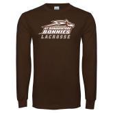 Brown Long Sleeve TShirt-Lacrosse