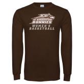 Brown Long Sleeve TShirt-Womens Basketball