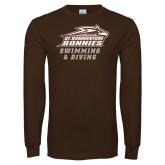 Brown Long Sleeve TShirt-Swimming & Diving