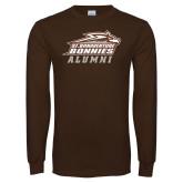 Brown Long Sleeve TShirt-Alumni