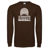 Brown Long Sleeve TShirt-Bonnies Baseball w/ Hat