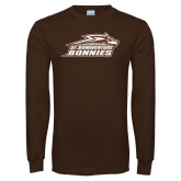 Brown Long Sleeve TShirt-Official Logo