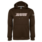 Under Armour Brown Performance Sweats Team Hoodie-St. Bonaventure Bonnies