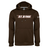 Under Armour Brown Performance Sweats Team Hoodie-St. Bona