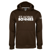 Under Armour Brown Performance Sweats Team Hoodie-St. Bona Bonnies