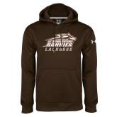 Under Armour Brown Performance Sweats Team Hoodie-Lacrosse