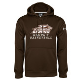 Under Armour Brown Performance Sweats Team Hoodie-Womens Basketball