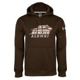 Under Armour Brown Performance Sweats Team Hoodie-Alumni