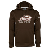 Under Armour Brown Performance Sweats Team Hoodie-Grandpa