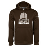 Under Armour Brown Performance Sweats Team Hoodie-Bonnies Baseball w/ Hat