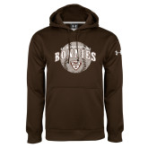 Under Armour Brown Performance Sweats Team Hoodie-Bonnies Baseball Arched w/ Ball