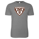 Next Level SoftStyle Heather Grey T Shirt-Bonnies Shield