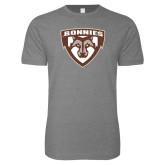 Next Level SoftStyle Heather Grey T Shirt-Bonnies Shield