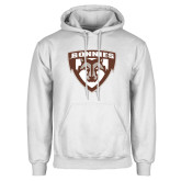 White Fleece Hoodie-Bonnies Shield