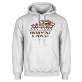 White Fleece Hoodie-Swimming & Diving