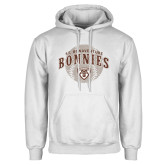 White Fleece Hoodie-Bonnies Baseball Arched w/ Ball