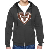 Charcoal Fleece Full Zip Hoodie-Bonnies Shield