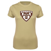 Ladies Syntrel Performance Vegas Gold Tee-Bonnies Shield