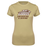 Ladies Syntrel Performance Vegas Gold Tee-Swimming & Diving