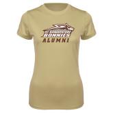 Ladies Syntrel Performance Vegas Gold Tee-Alumni