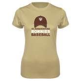 Ladies Syntrel Performance Vegas Gold Tee-Bonnies Baseball w/ Hat