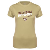 Ladies Syntrel Performance Vegas Gold Tee-Bonnies Soccer Texture