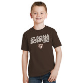 Youth Brown T Shirt-Bonnies Soccer Texture