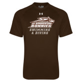Under Armour Brown Tech Tee-Swimming & Diving