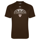 Under Armour Brown Tech Tee-St. Bonaventure Basketball Half Ball