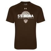 Under Armour Brown Tech Tee-St. Bona Basketball Half Ball