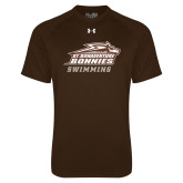 Under Armour Brown Tech Tee-Swimming