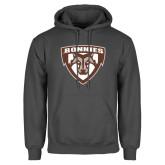 Charcoal Fleece Hoodie-Bonnies Shield